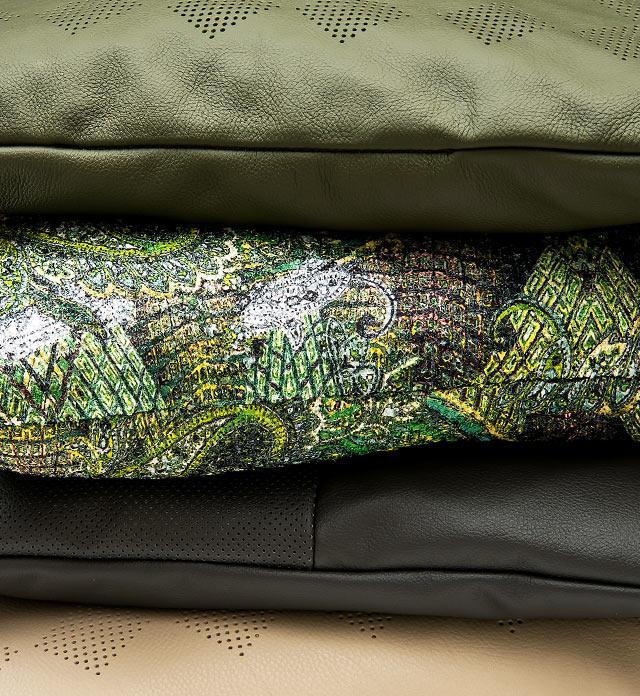 Fefè realizza cuscini su misura 100% made in Italy a Tolentino, rivestimento in pelle o tessuto